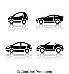 Set of transport icons - Vehicles, vector