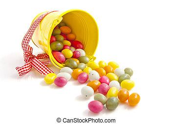 Candy easter bucket