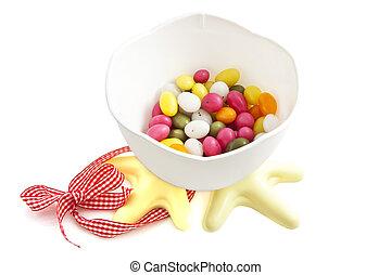 Ester chicken bucket - Easter chicken bucket filled with...
