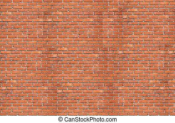 Brick wall - Wall of a house from a red brick A background