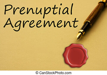 Getting a prenuptial agreement - A fountain pen with yellow...