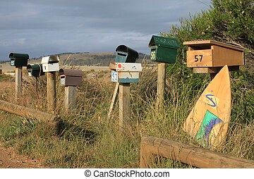 funky letterboxes - Briefkasten Surfboard