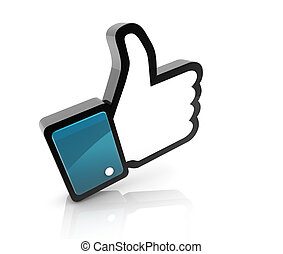 Hand Cursor - Thumb Up - 3d of like icon thumbs up