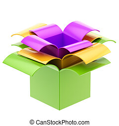 Three colorful gift boxes isolated - Three colorful gift...