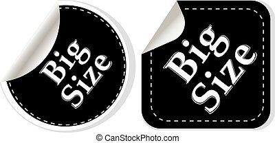 big size clothing stickers set - vector fashion theme