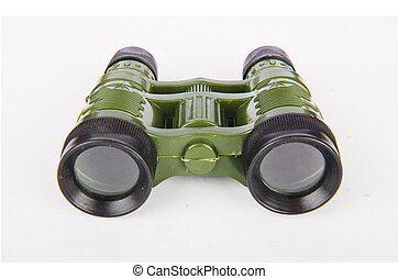 Military binoculars isolated on white