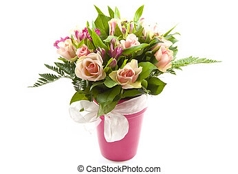 Lovely bouquet - Bunch of beautiful flowers in a jar...