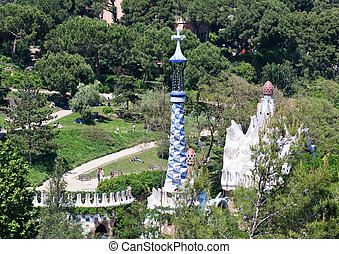 Park Guell by Antoni Gaudi, Barcelona, Spain