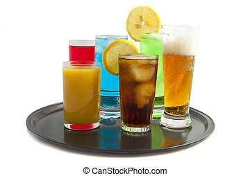 Tray with drinks