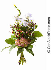 Special flowers - Special bouquet isolated on a white...
