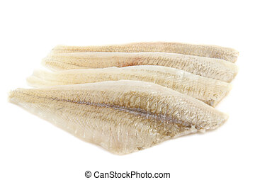 Fish fillet - Fresh raw fish fillet isolated over white