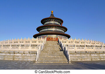 Temple of Heaven in Beijing China - The Hall of Prayer for...
