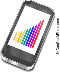 smart phone with graphic picture