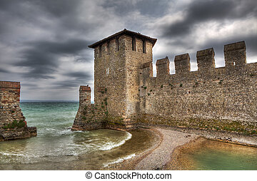 Ancient walls. Sirmione, Italy.