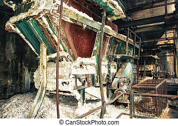 Old trains wagon in mines - Abandoned facilities freight...