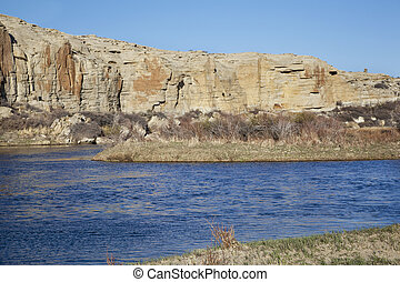 North Platte River in Wyoming - North Platte River in high...