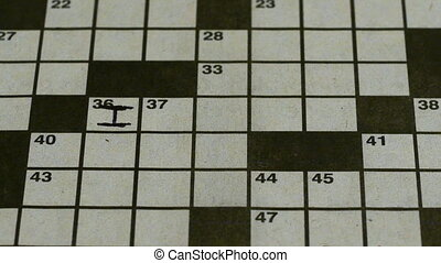 Crossword Timelapse 2 - A time lapse of a crossword being...
