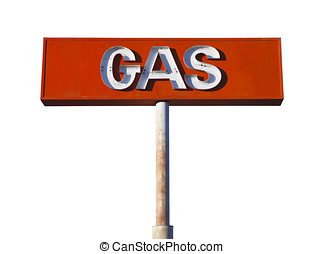 Vintage Desert Neon Gas Sign Isolated
