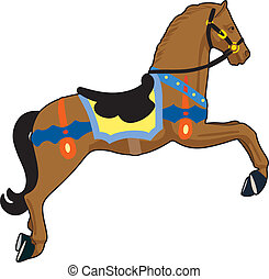 Carousel horse - Wooden horse