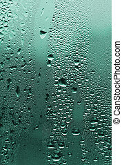 natural water drops on glass - natural large and fine water...