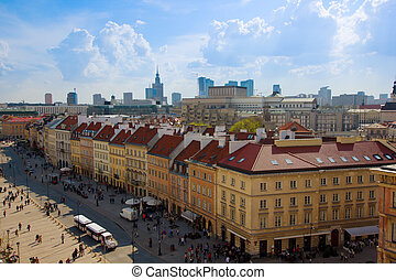 old downtown of Warsaw, Poland - old downtown Krakowskie...