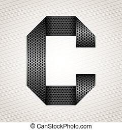Letter metal ribbon - C