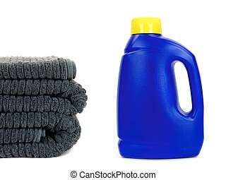 Laundry Detergent - Laundry detergent isolated against a...
