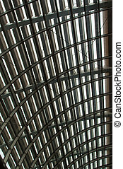 Curved reinforced steel roof