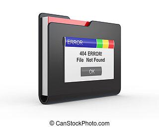 error, file not found
