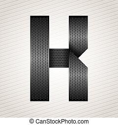 Letter metal ribbon - K