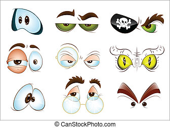 Cartoon Eyes - Conceptual Design Art of Cartoon Eyes Vector...