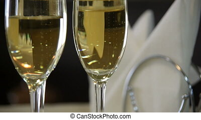 Two Champagne and Serviette