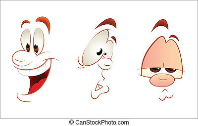 Cartoon Faces Clipart - Creative Design Art of Cartoon Faces...