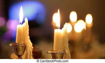 Candles dying away