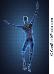 jump man radiography made in 3D