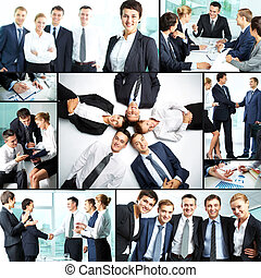 Successful business - Collage of business partners at work