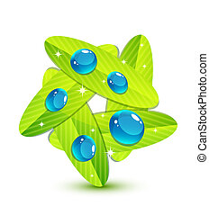 Water leaf concept - Vector illustration for your design