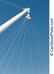 derrick  -  the steel cables on derrick of Genova