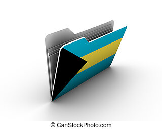 folder icon with flag of bahamas on white background