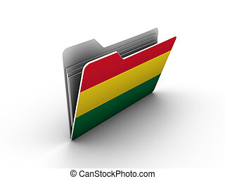 folder icon with flag of bolivia on white background