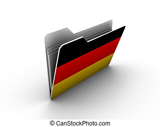 folder icon with flag of germany on white background