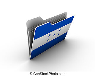 folder icon with flag of honduras on white background
