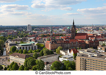 View on the center of Hannover from the new Town Hall (neues...