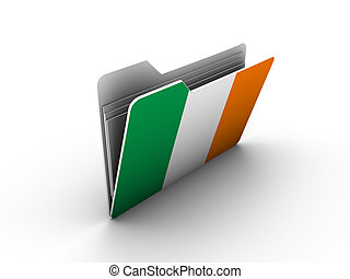 folder icon with flag of ireland on white background