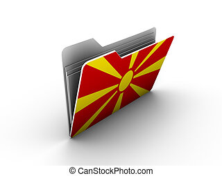 folder icon with flag of macedonia on white background