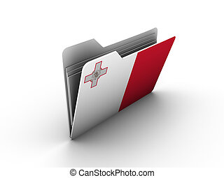 folder icon with flag of malta on white background