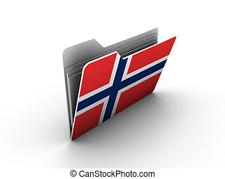 folder icon with flag of norway on white background