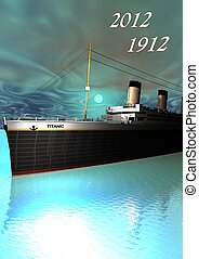 Titanic 1912 - 2012 and sky green