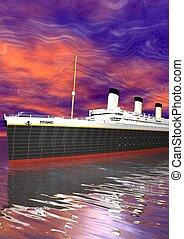Titanic 1912 - 2012 - Titanic and sky pink