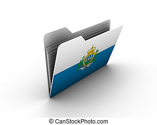 folder icon with flag of san marino on white background